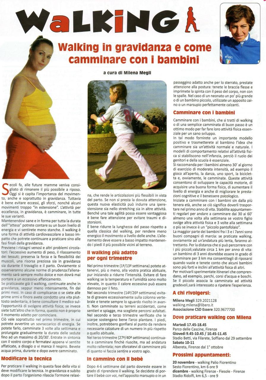 Walking in gravidanza e come camminare con i bambini