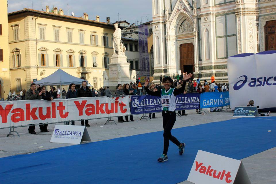 Rosa Boi alla Firenzemarathon.