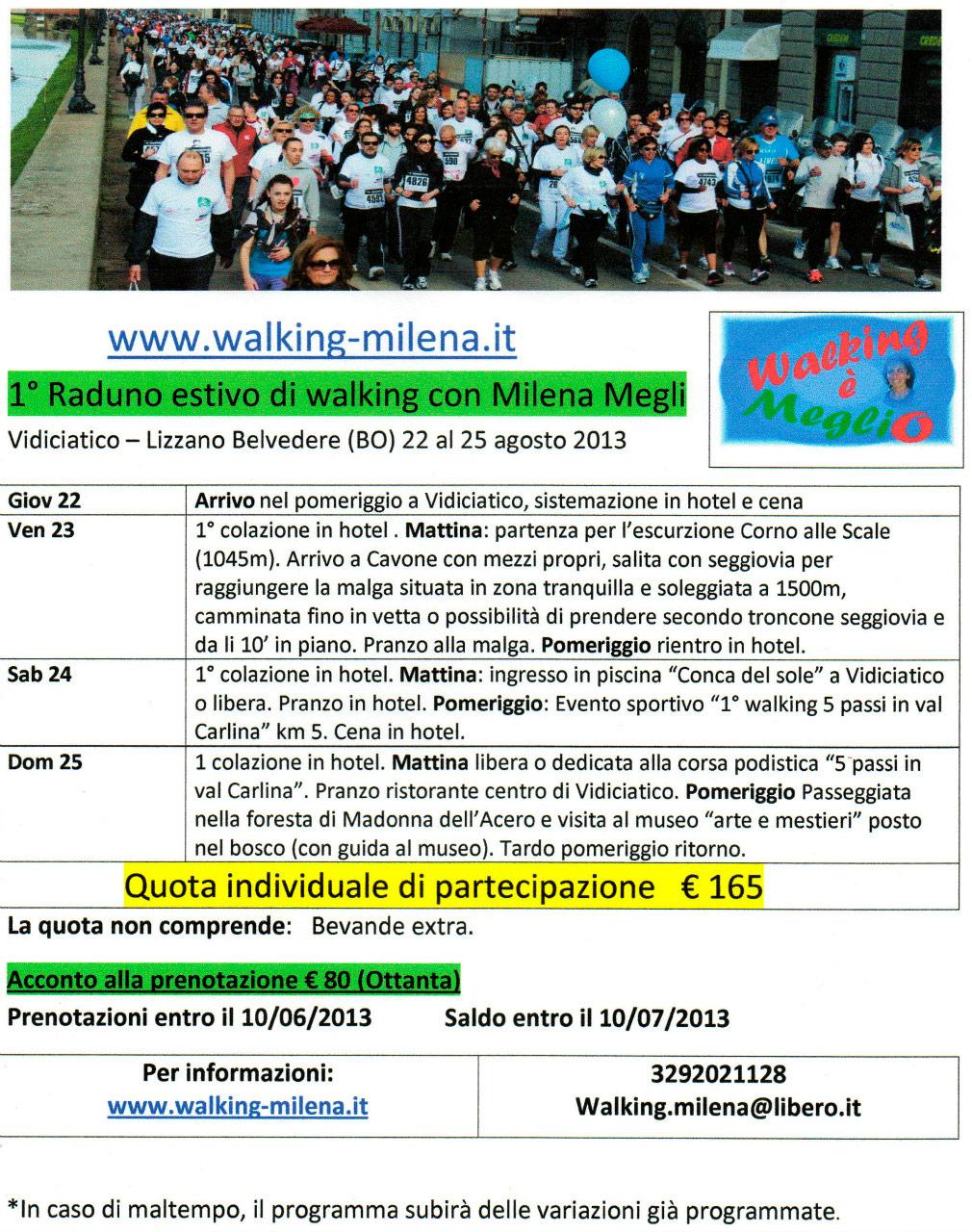 1° raduno di walking con Milena Megli