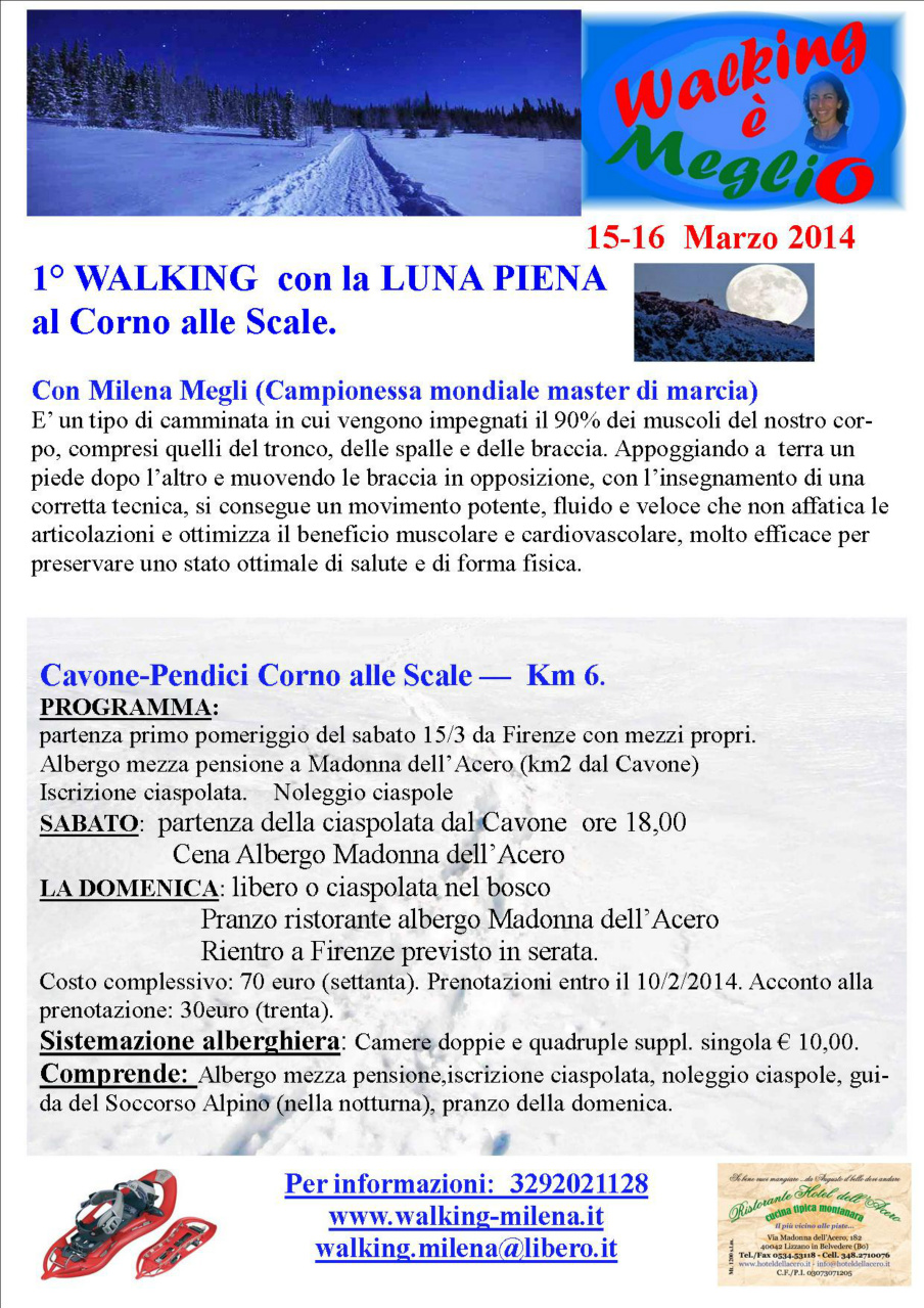 1* Walking con la luna piena