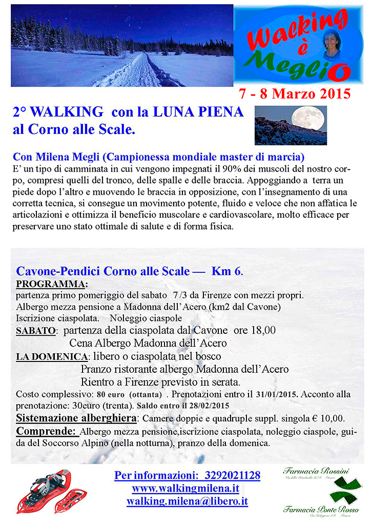 Secondo Walking con la luna piena