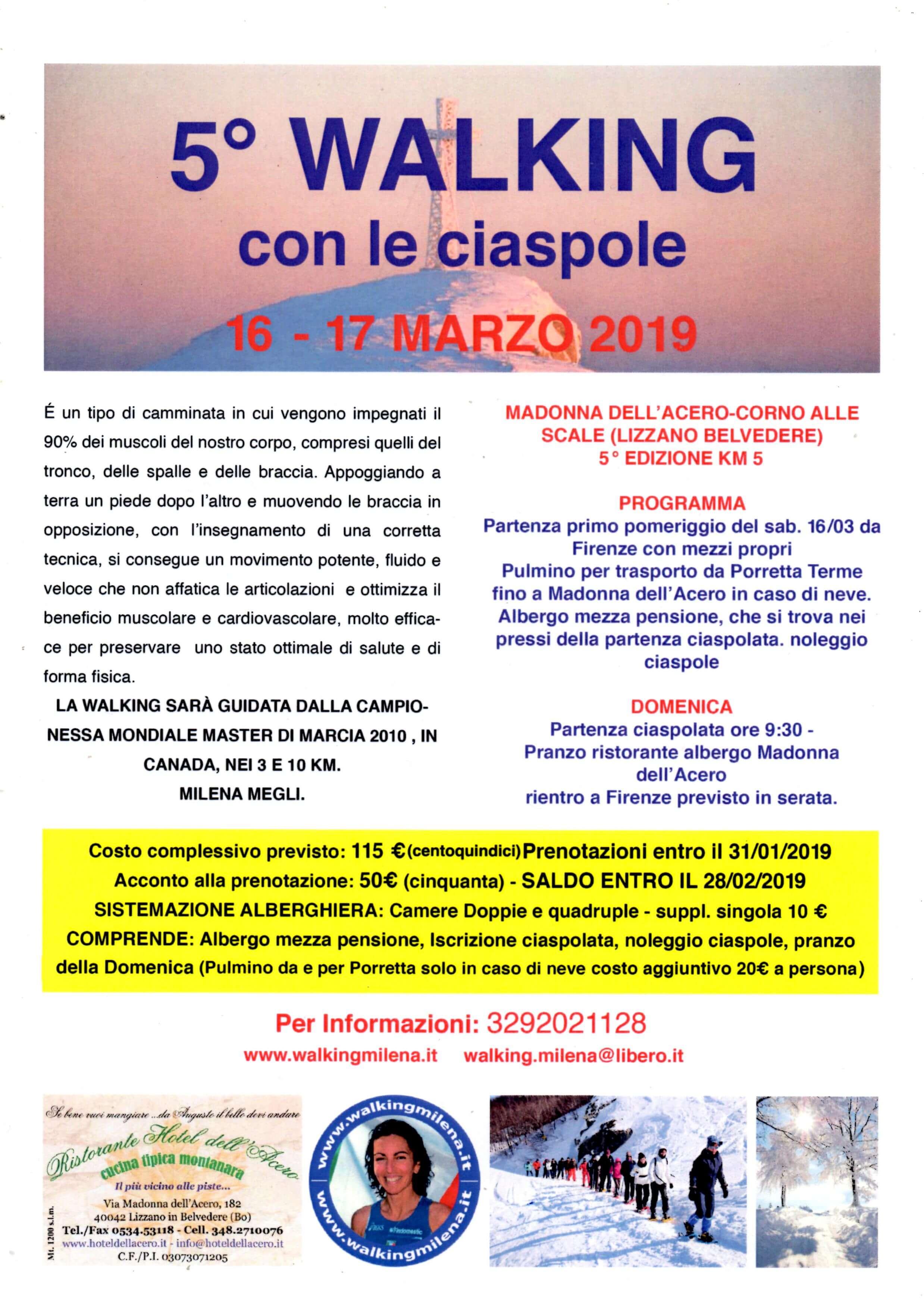 5° Walking con ciaspole 2019